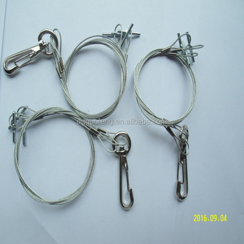 Adjustable Plant Pot Hanger Wire Cable Swivel Hook And Pins