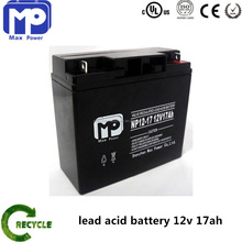 Sealed lead acid maintenance free 12v 17ah battery for high quality and long cycle times