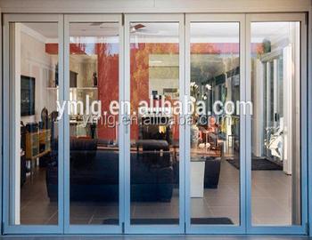 Residential Soundproof Aluminum Folding Main Entrance Door For Living Room
