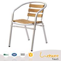 Foshan furniture outdoor patio bistro polywood metal garden chair