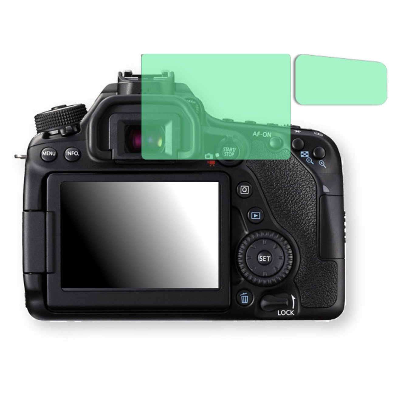 Golebo Screen Film for Privacy protection green for Canon EOS 80D - PREMIUM QUALITY