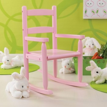 Children Living Room Furniture Pink Color Wooden Baby Rocking Chair ...