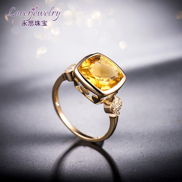 Customize Brazilian 3 35 Carat Gemstone Cushion Natural Topaz Diamond Engagement Rings Designs For Las Pictures