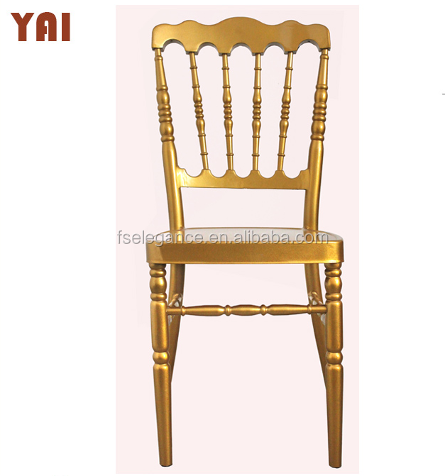 Wholesale events rental banquet gold metal wedding napoleon chairs