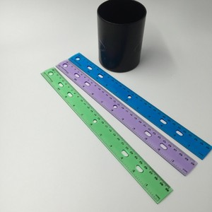 15cm parallel ruler promotional custom color plastic rulers