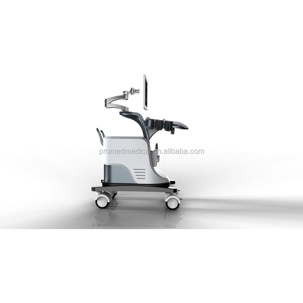 Hospital Use Digital Diagnostic Color Ultrasound Scanner with Trolley-mounted