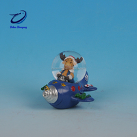 OEM cheap little mermaid snow globe with blowing snow