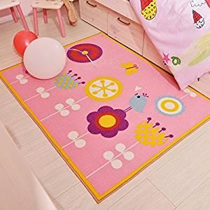 Get Quotations Lelva Cartoon Lovely S Bedroom Rugs Pink Flowers Floor Cute Colorful