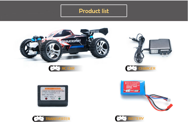 Upgrade Wltoys Powerful RC Car A959 with METAL SHAFT 2.4G 1/18 Scale 4WD Off Road Buggy