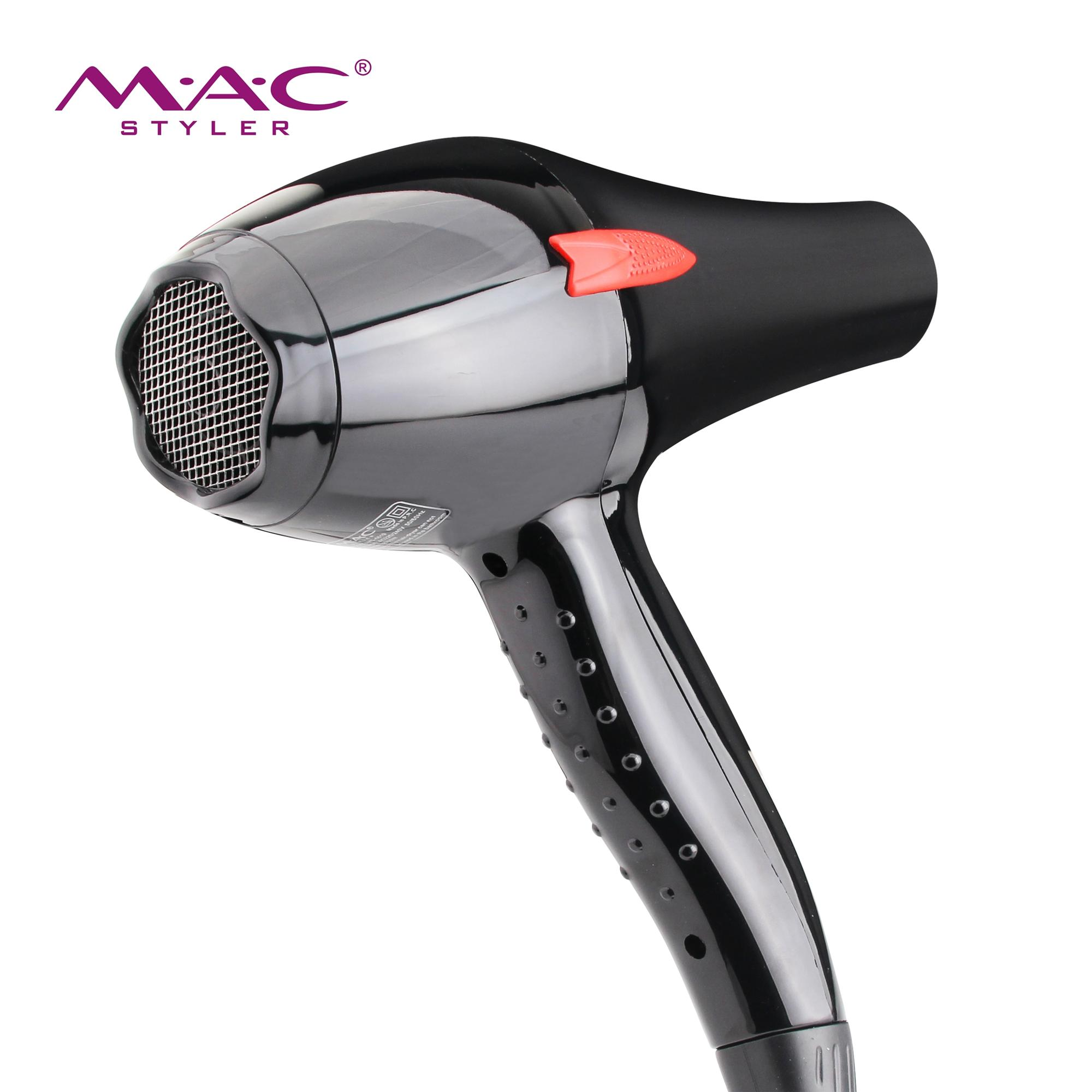 Two Speeds and Three Heat Settings for fast drying and styling high quality blow dryer