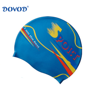 Custom water sport funny swimming caps silicone swim cap for kid and adult