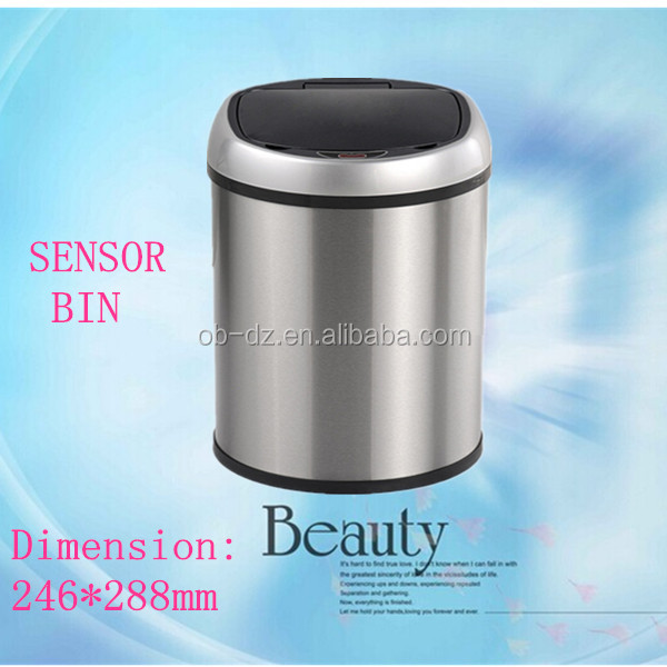 factory price car dustbin metal trash can(GYT6-2C-Y)