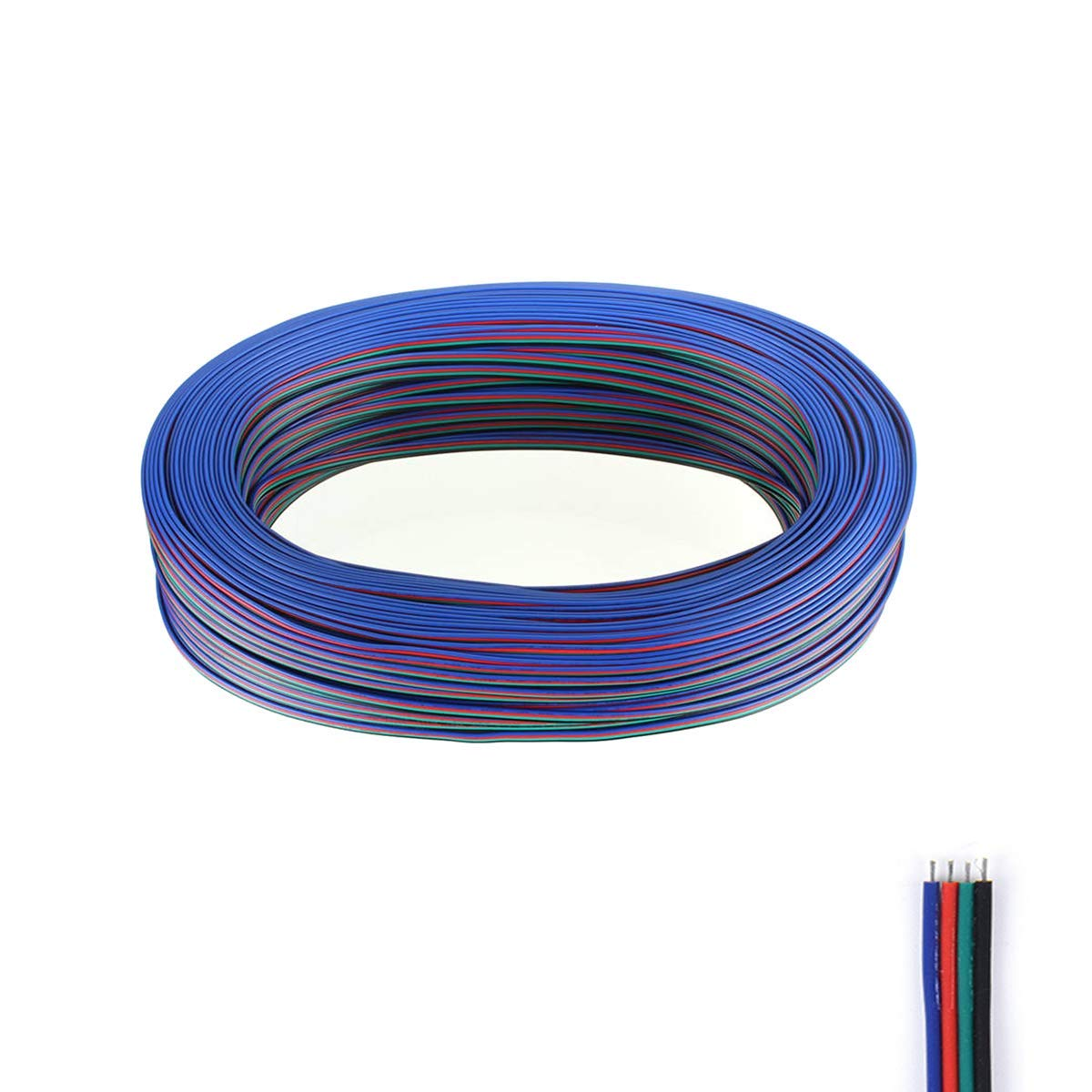 Cheap Rgb Led Strip Wire Find Deals On Line At Wiring Lights Get Quotations Fntek 50ft 4 Pin Extension Cable Cord For 5050 3528