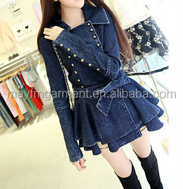 long denim coat for women's coat