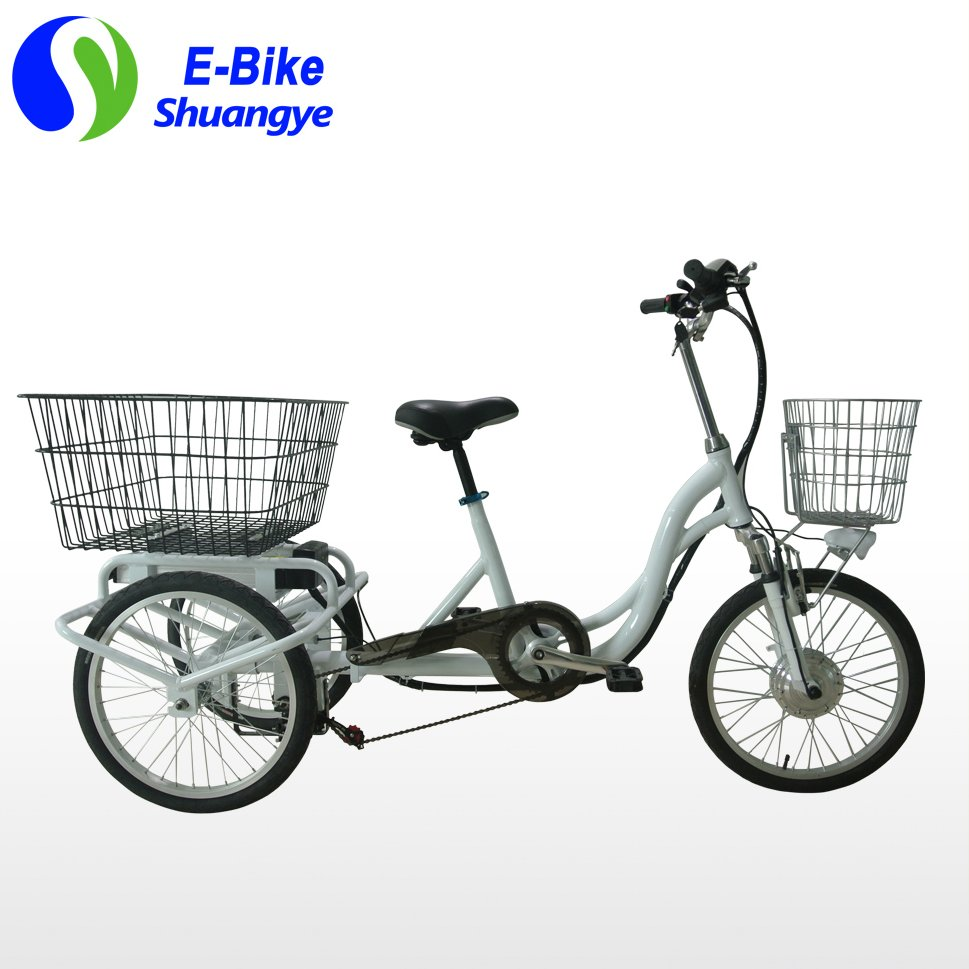 "20"" alloy frame 3 wheel adult electric tricycle"
