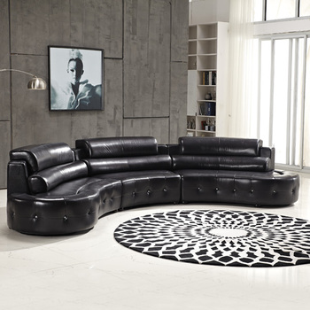 Exceptionnel Living Room Leather Round Sofa   Buy Round Corner Leather Sofas,Arabic  Living Room Sofas,Guangzhou Furniture Leather Living Room Sofas Product On  ...