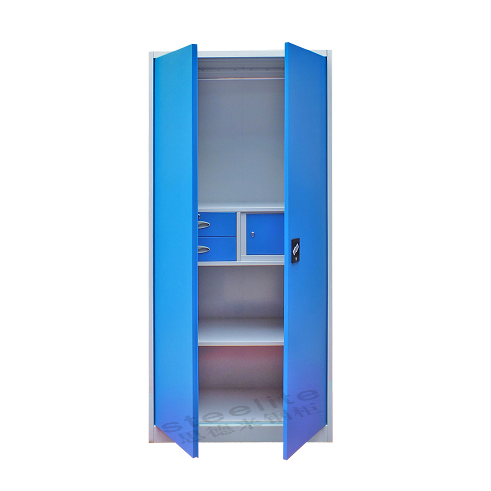 Self Assembly Bedroom Furniture Luoayng Supplier High Gloss Self Assemble Wardrobe Almirah Closet