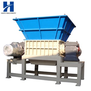 Factory made double shaft metal shredder crusher complete