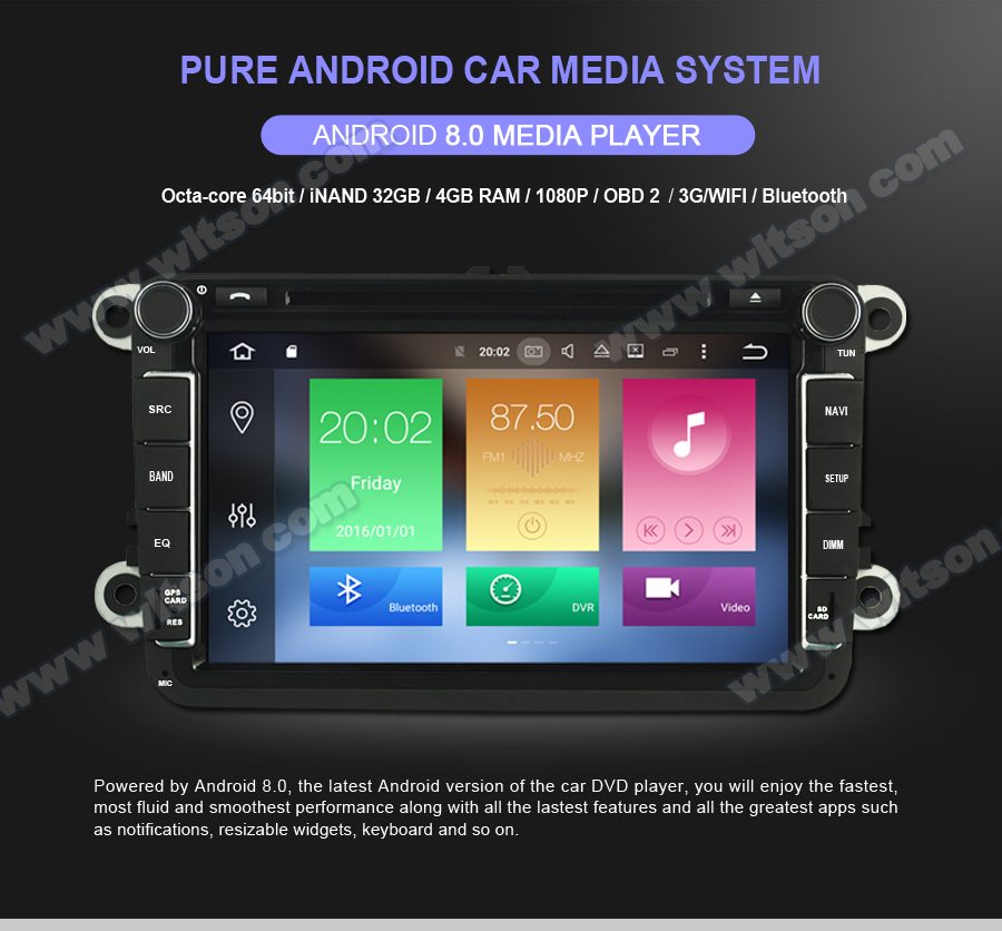 WITSON ANDROID 8.0 CAR DVD PLAYER FOR TOYOTA COROLLA 2004-2007