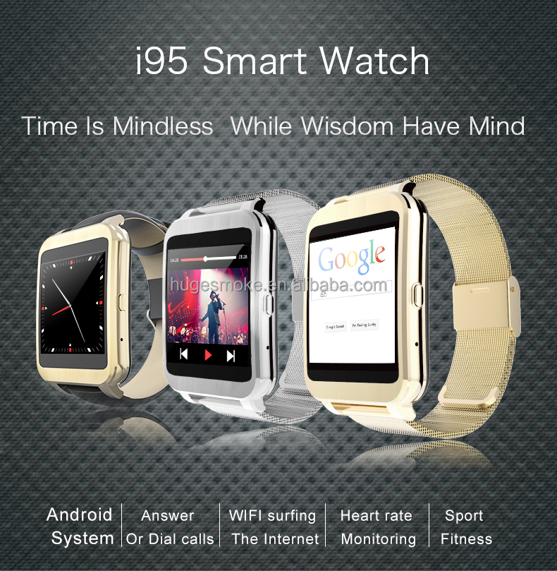 2016 newest I95 Smart watch phone i95 support android app download i95 Smart Watch