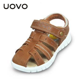 b67fc5196 UOVO 2016 summer boys girls genuine leather sandals children real skin  leather shoes sandals kids sandalias