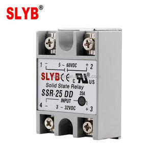 Single Phase Fotek Type Solid State Relay SSR 25DD 3-32VDC Input to 5-60VDC Output by Zhejiang Factory