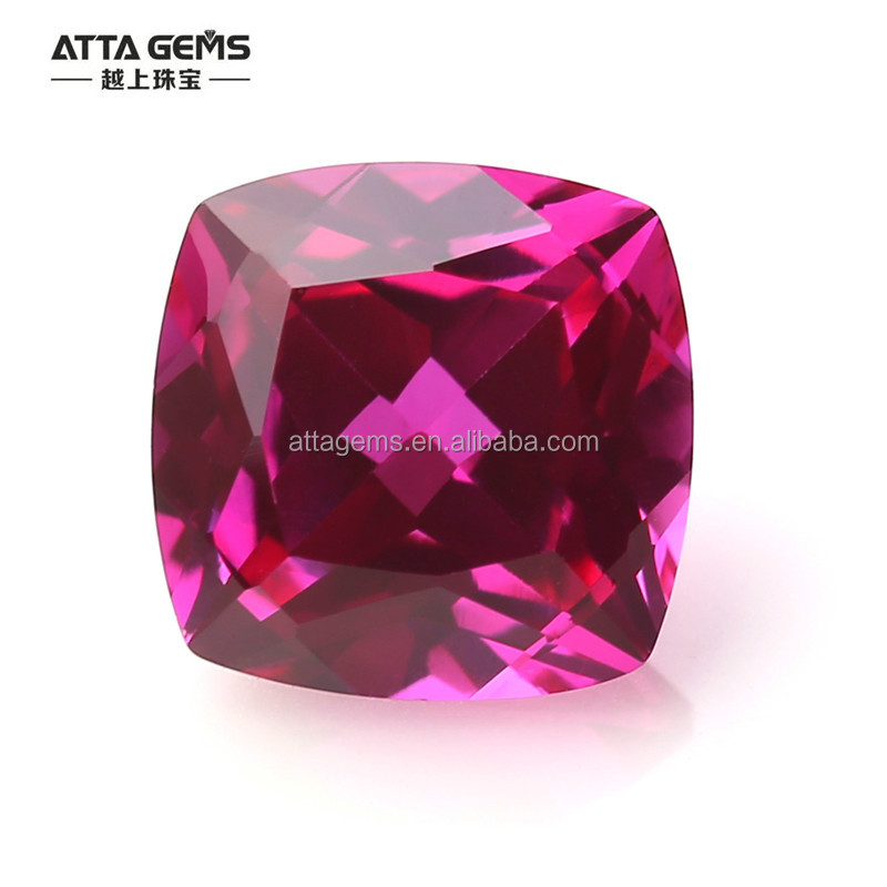 Synthetic sapphire ruby stone price corundum stone prices per piece