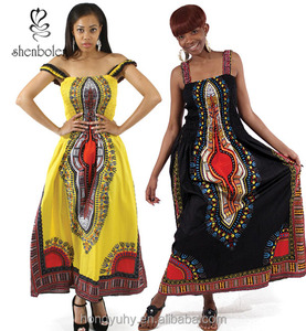M40707 Custom make Traditional african dashiki dress Long Dress african print dress from Clothing factory