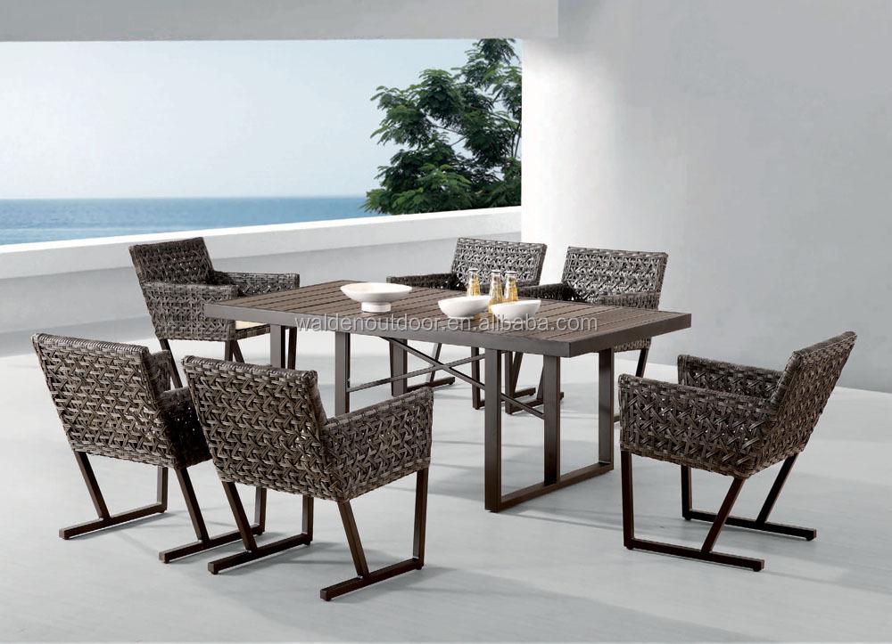 home esstisch rattan esstisch und stuhl design esszimmer set dh n9668 rattan korbm bel. Black Bedroom Furniture Sets. Home Design Ideas