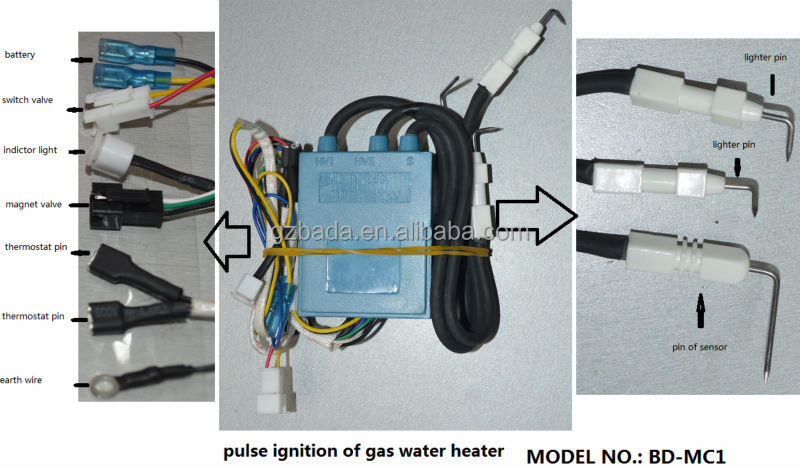 Pulse Ignition Of Gas Water Heater  Bd Mc1   Buy Pulse Ignition Of Gas Water  Heater,Pulse Igniter For Gas Water Heater,Spark Igniter For Water Heater ...
