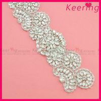 cheap blingbling glass crystal rhinestone belt for wedding dress wholesale WRA-560