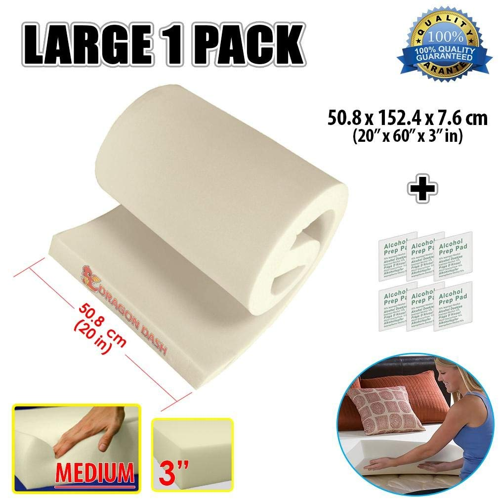 """Seat Foam Cushion Replacement Upholstery 1/"""" x18/""""x60/"""""""