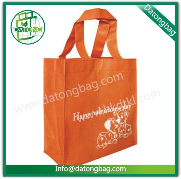 Valentines day nonwoven gift bag recycled tote shopping bag
