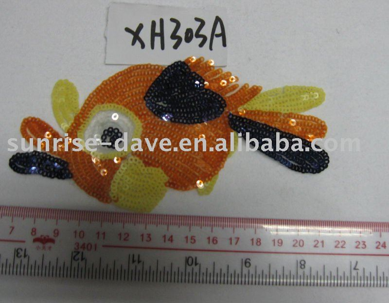 ikan payet patch / mesin made payet