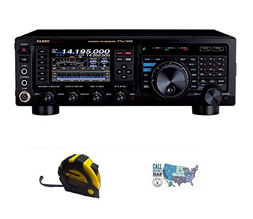 Bundle - 3 Items - Includes Yaesu FT-DX1200 HF Contest Radio, 100W HF/50MHZ with the New Radiowavz Antenna Tape (2m - 30m) and HAM Guides Quick Reference Card