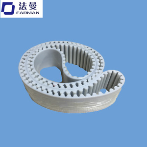 White Color industrial endless Pu timing belt in transmission belt from China