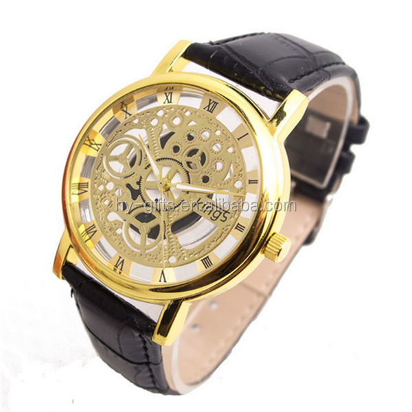 men hollow skeleton watch luxury brand fashion skeleton watch