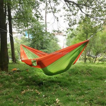 Hangmat Twee Personen.Outdoor 2 Persoon Portable Parachute Nylon Overdekte Hangmat Donker Oranje En Groen Buy Outdoor Hangmat 2 Personen Draagbare Hangmat Bedekt Hangmat