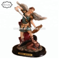 Saint-Michel Catholic Items Resin Angels Statues Gifts Angel with Wings