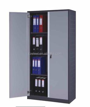 office furniture 2 door metal filing cabinet/steel document cabinet 2 door metal file cabinet