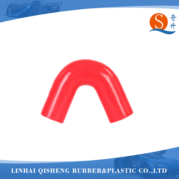 Red auto turbo silicone rubber 135 degree pipe bend