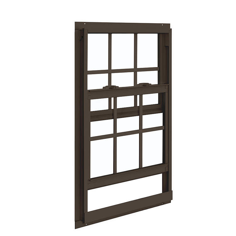 Single Hung Aluminum Window Manufacturer Double / Single Glazing Sash Windows Storm Sash Track Window