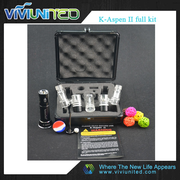 adjustment K-Aspen II full kit with Three stalls temp for wax and dry herb ,Kanboro tech 510 nail