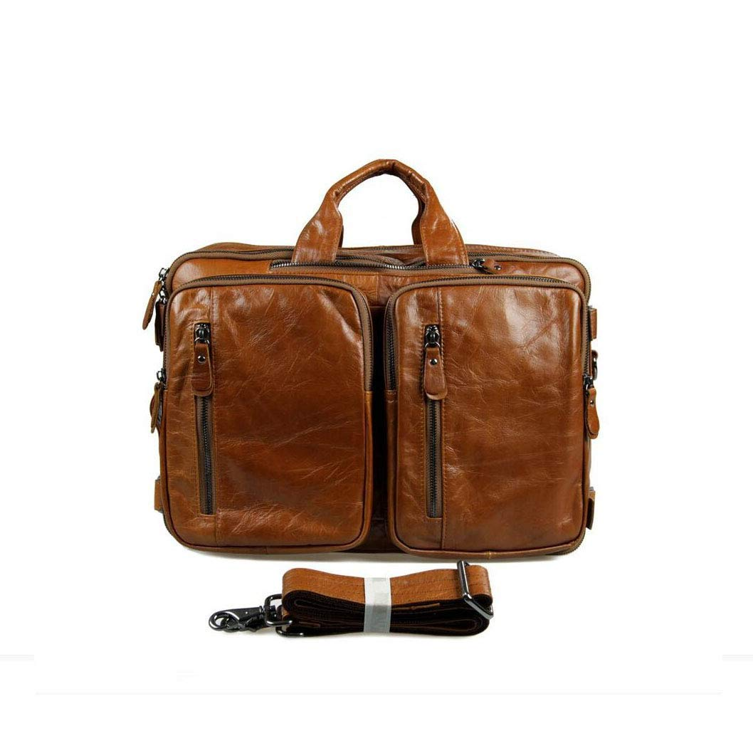 Color Dark Brown. Get Quotations · Xinyuan Europe and The United States  Men s Leather Handbag Retro Briefcase Multi-Function Shoulder Shoulders eac84c2736