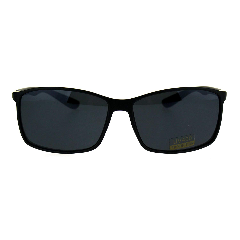 a1077effc9a Get Quotations · Classic Mens Thin Plastic Rectangle Agent Sport Sunglasses