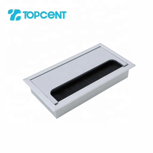 Topcent decorative fittings office computer rectangular desk cable wire management grommet