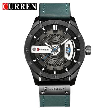 CURREN 8301 Top Brand Luxury watch men date display Leather creative Quartz  Wrist Watches relogio masculino 18b665e6bb8bc