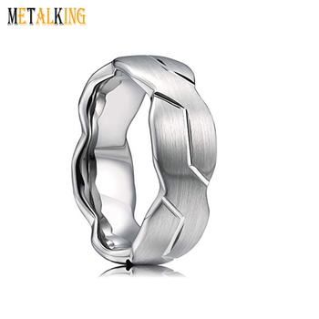Brushed Surface 8mm Tungsten Carbide Ring Mens Wedding Band Infinity Knot Pattern Comfort Fit