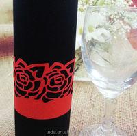 laser cut paper red rose napkin rings for weddings