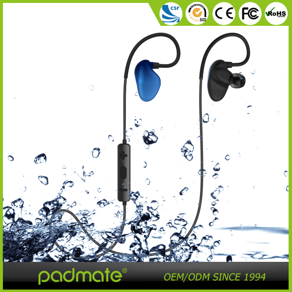 New design colorful bt4.1 APTX sound noise cancelling waterproof sport bluetooth earphone